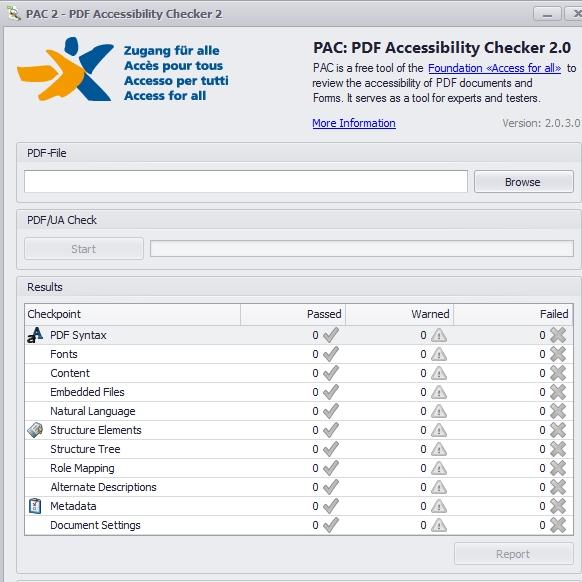 PAC2 Screenshot mit den Prüfpunkten