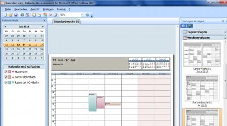 Mit Hilfe des Kalederdruck-Assistenten mehrere Kalender drucken